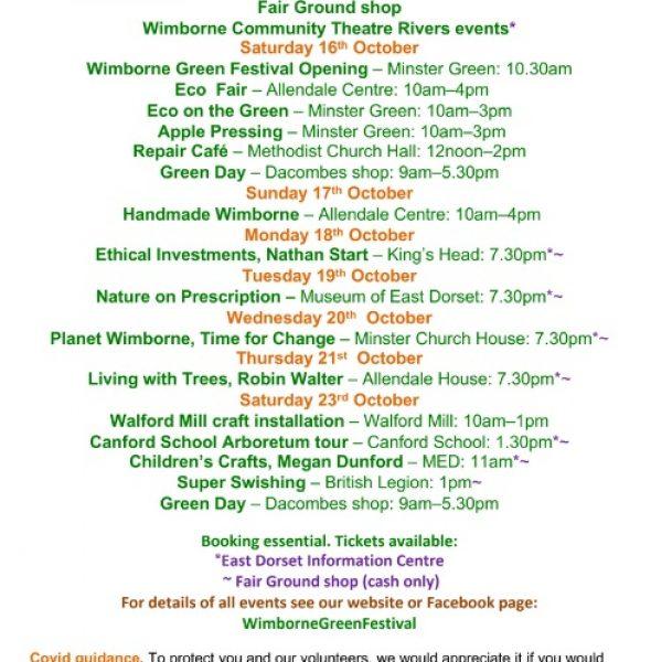 Wimborne Green Festival – 16-23 October 2021