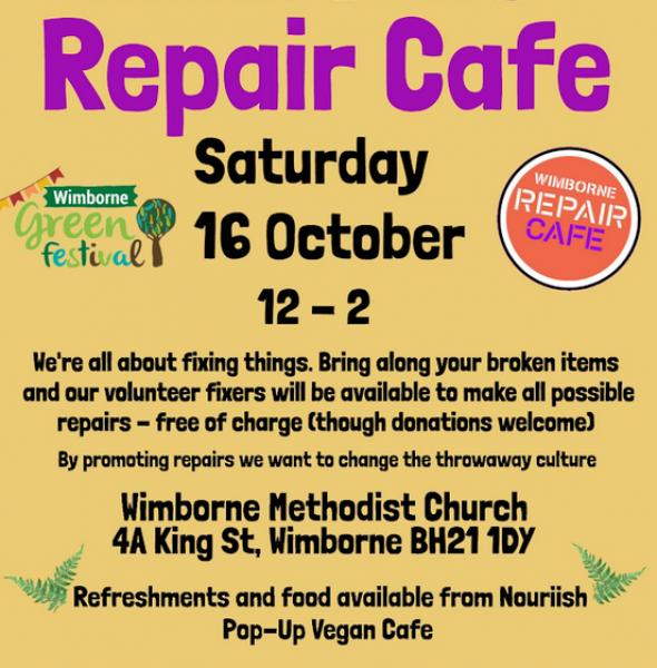 Wimborne Repair Cafe – 16 October 2021
