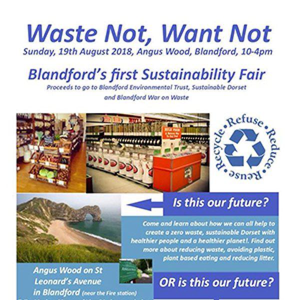 Blandford's first Sustainability Fair